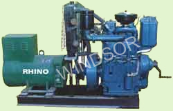 Genset Water Cooled Twin Cylinder 1500 RPM 50 hz Manufacturer from India